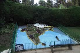 botanical gardens india map made naturally with plants