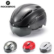<b>ROCKBROS Cycling helmet</b> with <b>goggles glasses</b> road MTB bike ...