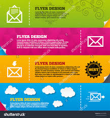 flyer brochure designs mail envelope icons stock vector  flyer brochure designs mail envelope icons message document delivery symbol post office letter