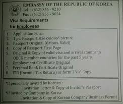 Certificate Of Employment For Korean Visa Image Gallery Hcpr