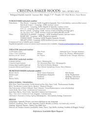 voice over resume template