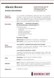 Sample Business Administration Resume Business Administration Resume