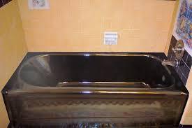 image of painting bathtub black