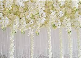 Wedding Photo Background White Flower Backdrop Curtain Floral 3d Flower Wedding Party Background Photo Backdrop For Wedding Reception Baby Shower Photo Booth Props