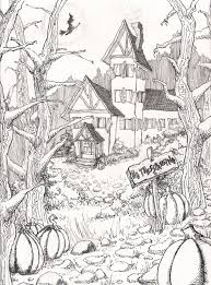 Scary Halloween Coloring Pages Adults Color Bros