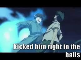 blue exorcist memes yukio kicks rin in the balls by EdwardElricFMA ... via Relatably.com