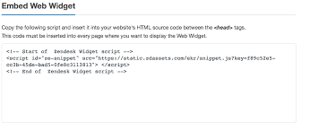 Adding The Chat Widget To Your Website Zendesk Help