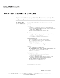 Hospital Security Resume Resume Template