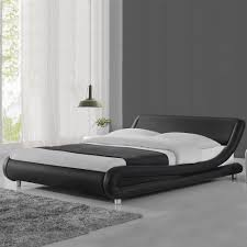 Modern Cool Designer Bed Frame Black White Double King Size Low Italian  Design | eBay