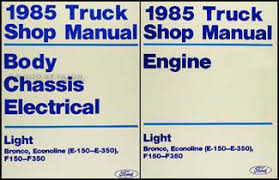 1985 ford f150 f250 f350 foldout wiring diagram original 1985 ford truck and van repair shop manual e f 150 350 bronco f super duty econoline 129 00