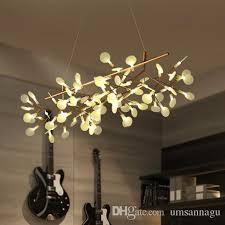 led modern pendant lamps firefly branch pendant lights fixture home indoor lighting european dining room bed room hanging drop light 110cm globe pendant