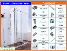 frameless glass sliding shower door shower enclosure fb20a