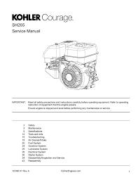 Kohler Engine Service Manual Manualzz Com