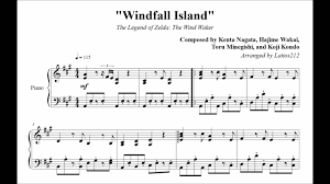 legend of zelda piano sheet music the legend of zelda the wind waker windfall island piano sheet
