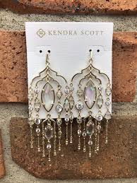 new kendra scott 140 emma chandelier statement duster earrings gold iridescent