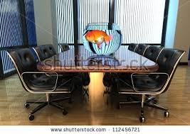 aquarium office. Office Interior With An Aquarium On The Table. K