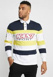 block rugby polo shirt colour navy yellow white