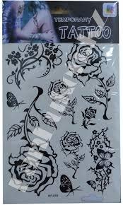 наклейки татуировки розы