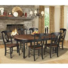 dining room tables oval.  Room British Isles Oval Dining Table In Oak  Black Inside Room Tables U