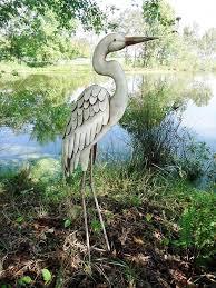 description beautiful elegant graceful standing egret décor