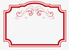 Red Photo Frames Red Frames Hand Painted Good Looking Red Png Image And Clipart
