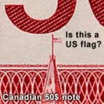 Image result for .On a Canadian two dollar bill/note looks like: American flag.