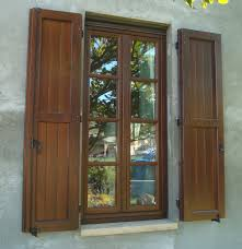Building Exterior Shutters Accessories Great Rustic Building Exterior Window Shutters In