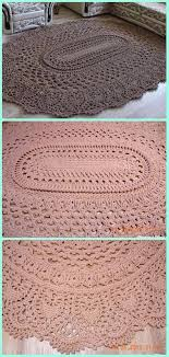 Free Crochet Rug Patterns Extraordinary Crochet May The Miracle Oval Rug Free Pattern Crochet Area Rug