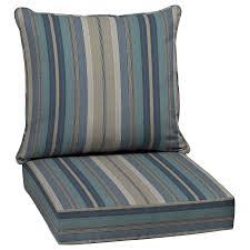 chair pad stripe blue stripe cushion deep seat patio chair marine blue outdoor chair cushions