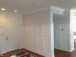 wainscoting baseboard new inspirational how to put up crown molding kitchen cabinets