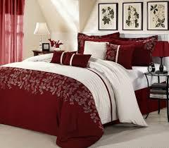 Attractive Burgundy Red Comforter Set