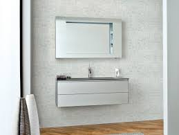 mirrored floating bathroom vanity