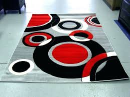 modern red area rugs gray rug abstract contemporary black white