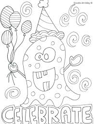 Happy Birthday Cards Coloring Pages Free Birthday Colouring Pages