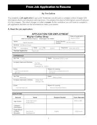 Free Printable Job Application Resume Templates At