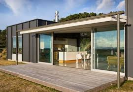 Modern prefab homes  Prefab homes and Glass front door on Pinterest