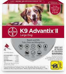 K9 Advantix Ii Flea Tick Mosquito Prevention For Large Dogs 21 55 Lbs 4 Treatments