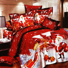 high quality blue bedding set 100 cotton xmas 3d duvet cover set comforter sets