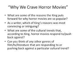 essay on horror movies co essay on horror movies