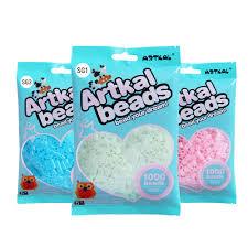 Artkal 7 Glow In Dark Colors 1000 Pcs Bag S 5mm Perler Beads Diy Educational Puzzle Toys