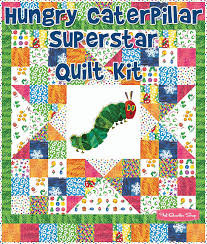 Hungry Caterpillar Superstar Quilt KitFeaturing The Very Hungry ... & Hungry Caterpillar Superstar Quilt KitFeaturing The Very Hungry Caterpillar  by Eric Carle - Quilt Kits | Adamdwight.com