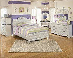 Julia Silver and Pearl Girl's Full Size Bedroom Set , Bed Dresser ...