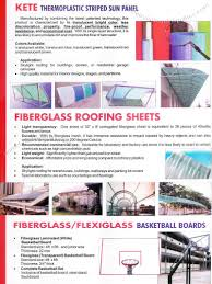 thermoplastic striped sun panel fiberglass roofing flexiglass basketball board