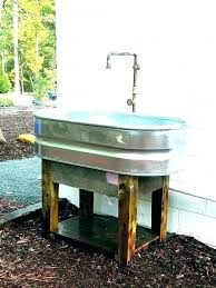 outdoor sink faucet for home depot outside garden with hose reel mobile sin garden sink