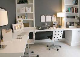 elegant home office furniture. Furniture Elegant Home Office Design Idea With White Desk Chairs Gray Wall And Bookshelf Fancy Ideas Eleg
