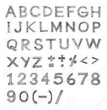 英語フォント手書きアルファベット鉛筆スケッチ アート文字デザインとシンボル