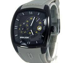 police silicone rubber band men s wristwatches police watch men multifunction black pvd steel 42mm silicone pl 13547jsb 02a