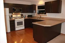 dark brown cabinets with black appliances   valdani.win