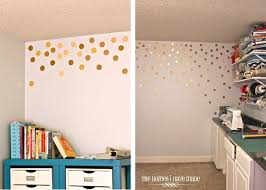 lofty dot wall decal gold polka elitflat roselawnlutheran nursery australium nz canada
