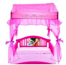 Canopy Toddler Bed Disny Princess Little Girls for Kids Side Rails ...